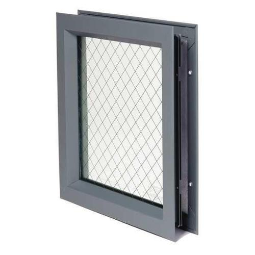 NATIONAL GUARD L-FRA100-WG-GT118-24x24 Lite Kit with Glass,24inx24in,Gry Primer