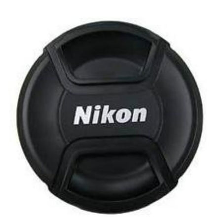 Replacement Snap-On Lens Cap Cover Center Pinch for Nikon AF-P DX NIKKOR 18-55mm f/3.5 G VR Digital Cameras with Leash , Cleaning kit and cap Holder.