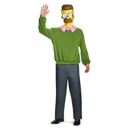 Adult Simpsons Ned Flanders Deluxe Costume by Disguise 85395 (Ned Stark Costume)