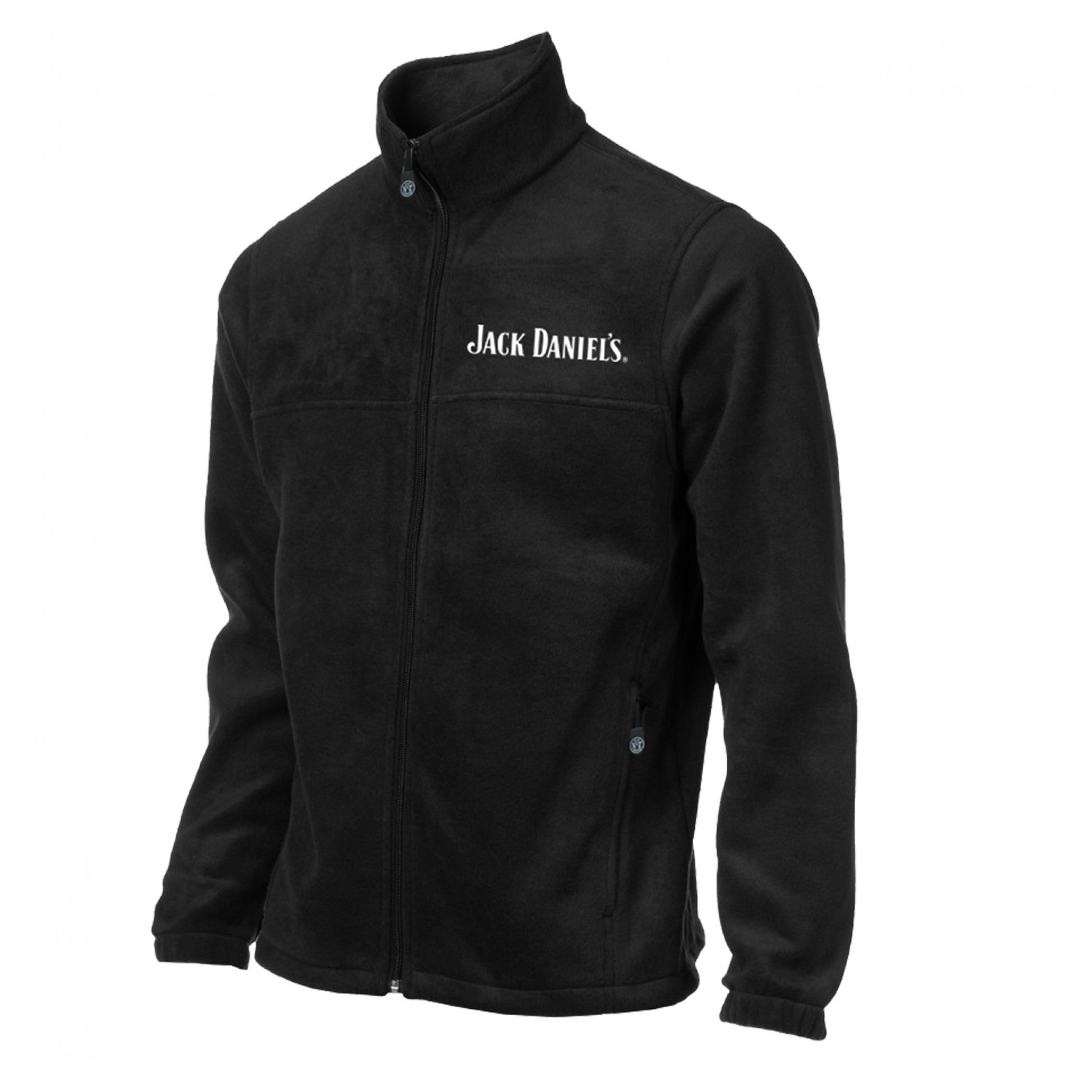 Jack Daniel/'S Embroidered Style Full Length Zipper Hoodie
