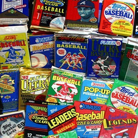 Topps, Upper deck, Donruss, Fleer, Score, Upperdeck 300 Unopened Baseball Cards Collection in Factory Sealed Packs of Vintage MLB Baseball Cards From the Late 80's and Early 90's. Look for