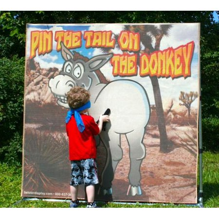 Pin the Tail on the Donkey Interactive Frame Game for Carnivals, Fairs, Festivals, Fundraisers, School and Church Events