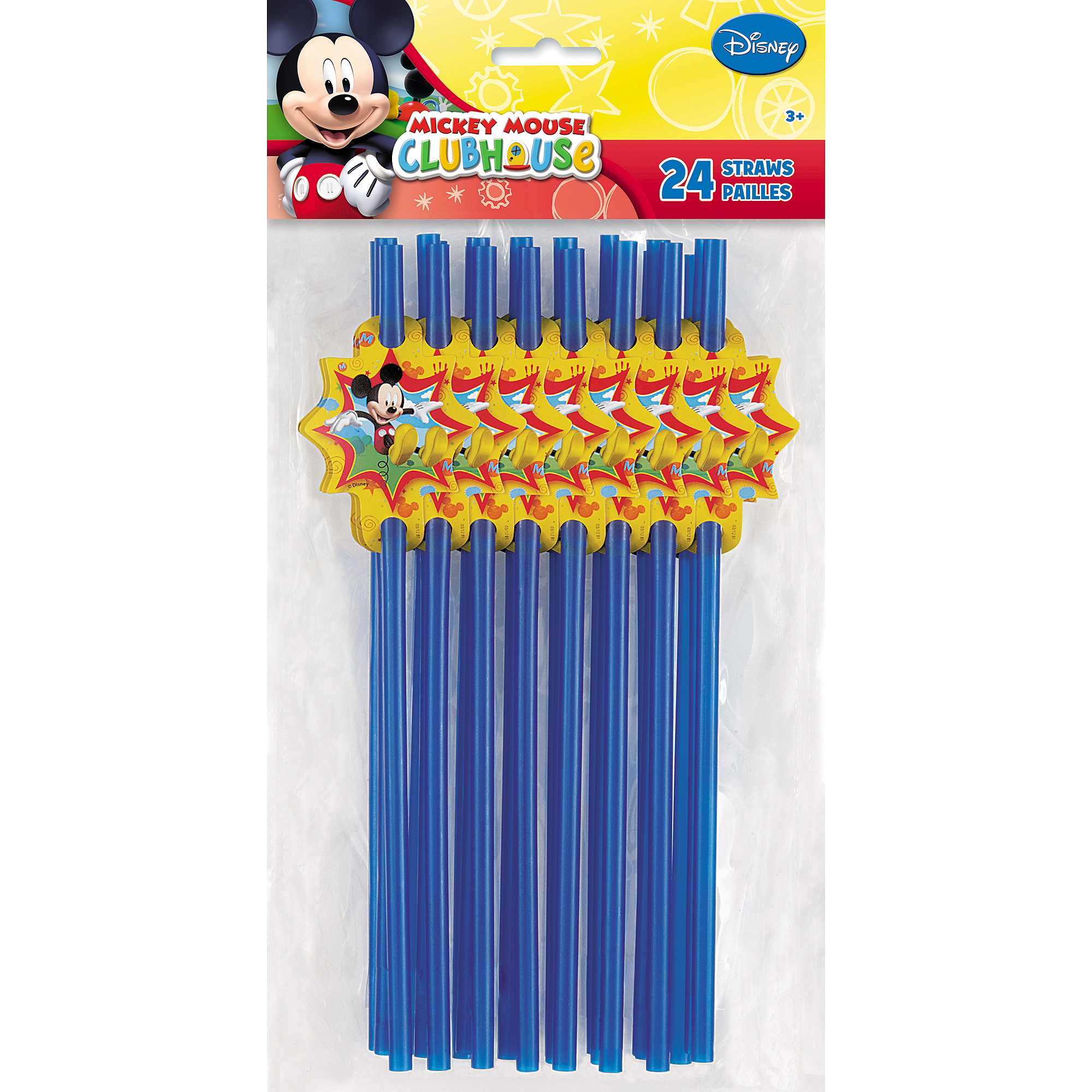 Mickey Mouse Clubhouse Party Straws, 24ct