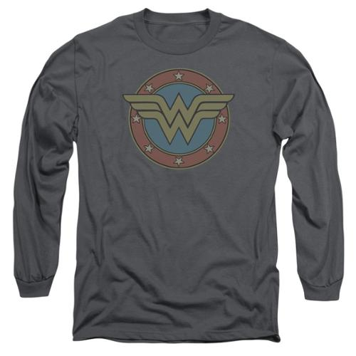 DC Comics Wonder Woman Vintage Emblem Mens Long Sleeve Shirt