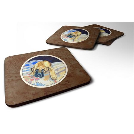 Fawn Great Dane Foam Coaster, 3.5 x 0.25 x 3.5 in. - Set of 4 - image 1 de 1