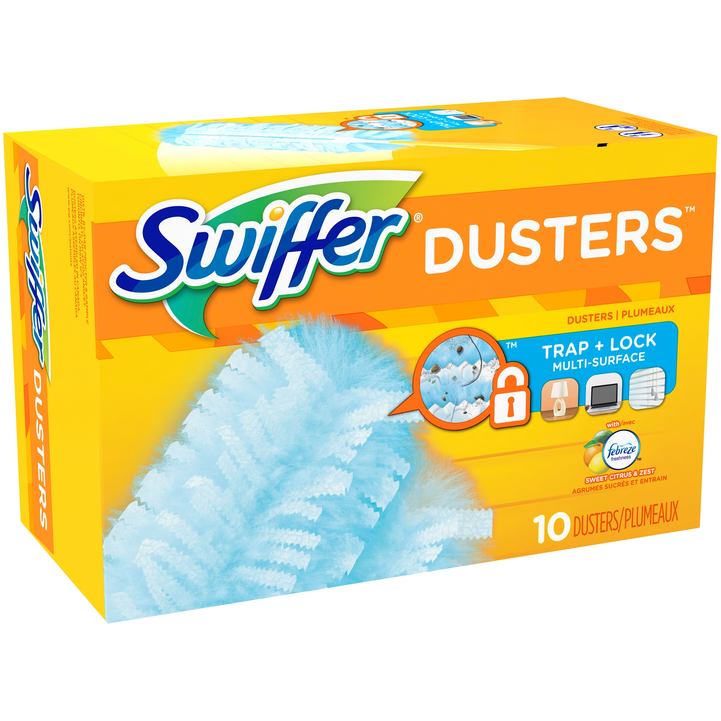 Swiffer 180 Dusters Multi Surface Refills, Citrus & Zest scent, 10 Count