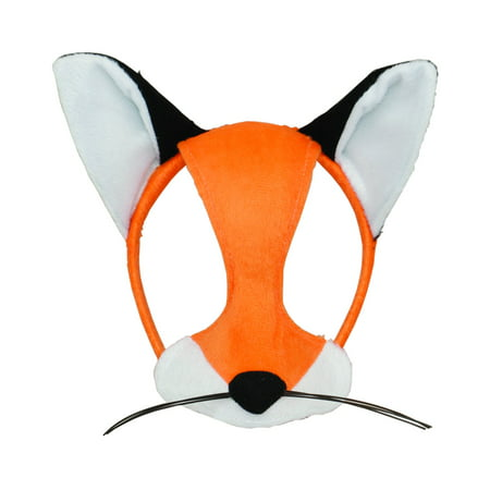 Fox Costume Accessories (Child's Wilderness Forest Animal Plush Cartoon Fox Mask Costume)