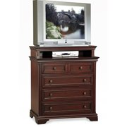 Home Styles Lafayette Media Chest, Rich Cherry