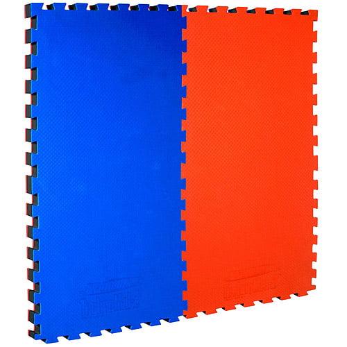 "TechnoMat Sportime Interlocking Foam Panel Mat, 24"" x 48"", Multiple Color Choices, Pack of 2"