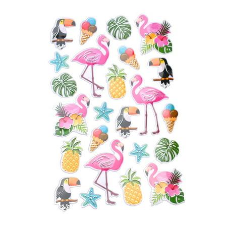 Foil Flamingo Silhouette (Wild Pink Flamingo Foil Fun Stickers, 24-Piece )