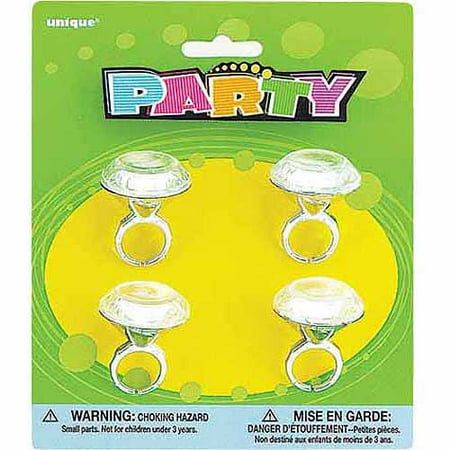 Diamond Ring Party Favors, 4ct](Frozen Plastic Rings)
