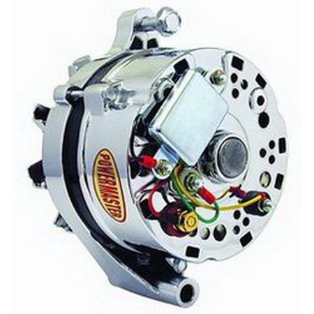 Powermaster 170781 Alternator/ Generator  Ford 1G Style; V-Belt Pulley; 65 Amp; One Wire; Chrome - image 1 of 2