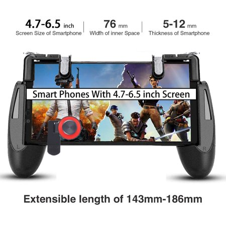 3 in 1 Gamepad for Knives Out PUBG Mobile Phone Shoot Game Controller L1R1 Shooter Trigger Fire Button - image 2 of 7