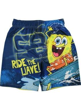 Nickelodeon Little Boys Blue SpongeBob SquarePants UPF 50+ Swim Shorts