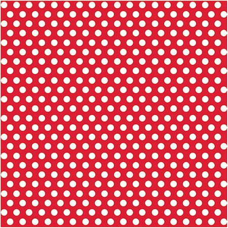 Dot Wrapping - Red Polka Dot Wrapping Paper Roll