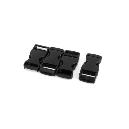 Unique Bargains 4pcs Plastic Curved Side Quick Release Buckles Snap Clip for 20mm Webbing Strap