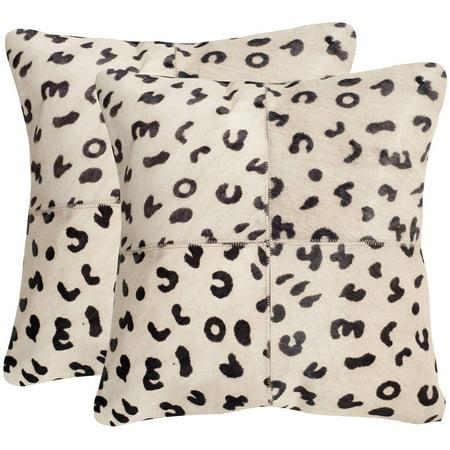 Safavieh Beau Leopard Spots Pillow, Set of (Carved Leopard)