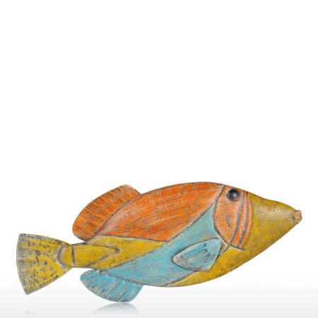 Life Preserver Hanging - Fish Wall Hanging 6 Iron Wall Decor Creative Ornament Craft Wall Setting Wall Hanging Marine Life