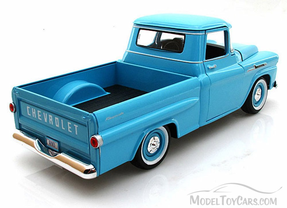 1958 Chevy Apache Fleetside Pickup Truck Light Blue Motormax
