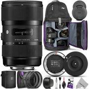 Sigma 18-35mm F1.8 Art DC HSM Lens for Canon DSLR Cameras w/Sigma USB Dock & Advanced Photo and Travel Bundle (Sigma 4 Year USA Warranty)