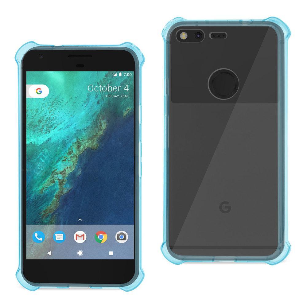 Reiko REIKO GOOGLE PIXEL CLEAR BUMPER CASE WITH AIR CUSHION PROTECTION IN CLEAR NAVY