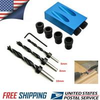 1 Set 15 Pocket Hole Screw J-ig With Dowel Drill Wood Joint Set Tool