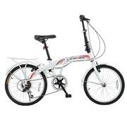 """Stowabike 20"""" Folding City V3 Compact Foldable Bike - 6 Speed Shimano Gears White"""