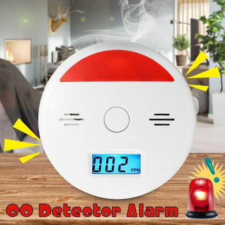 2 In 1 Battery Operated LCD Carbon Monoxide & Smoke Alarm / CO Carbon Monoxide Detector Fire Sensor Alarm Sound Combo Sensor Tester with Digital Display - image 9 of 10