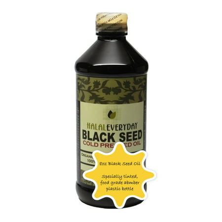 Special Order Bottles - Pure Black Seed Oil (Nigella Sativa) - 8 oz - 100% Pure & Cold Pressed Black Seed - NON-GMO and Vegan - Raw & Unfiltered -100% Hexane Free - Halal Certified - Special Food Grade Plastic Bottle