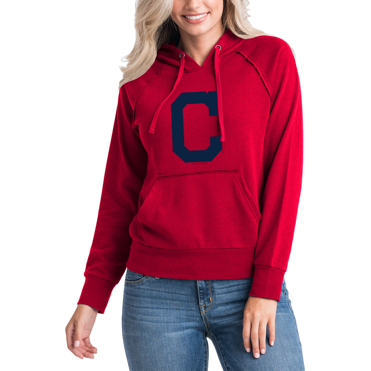 Cleveland Indians 5th & Ocean by New Era Women's Team Pullover Hoodie - Red