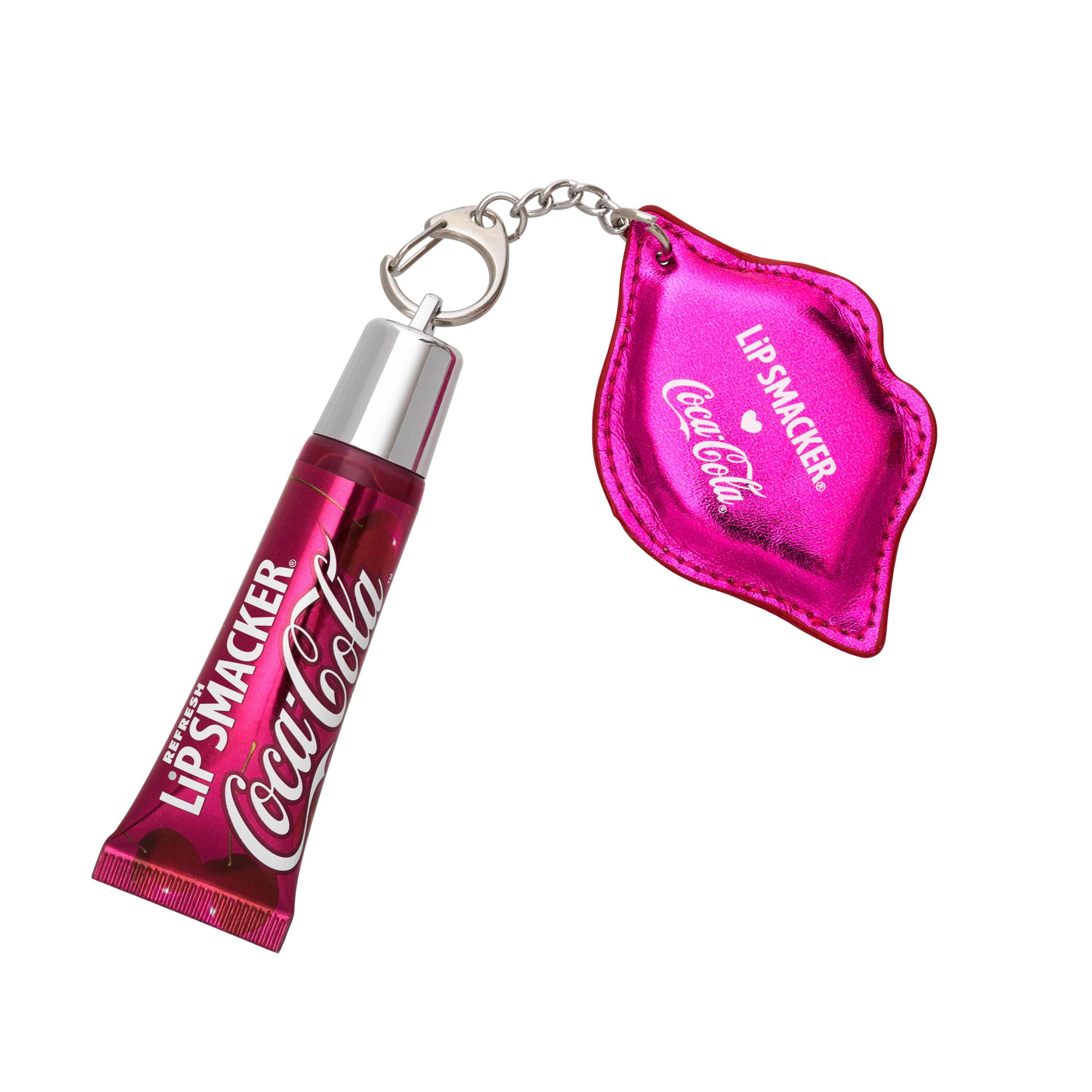 (2 Pack) Lip Smacker Cherry Coke Refresh Lip Gloss with Keychain