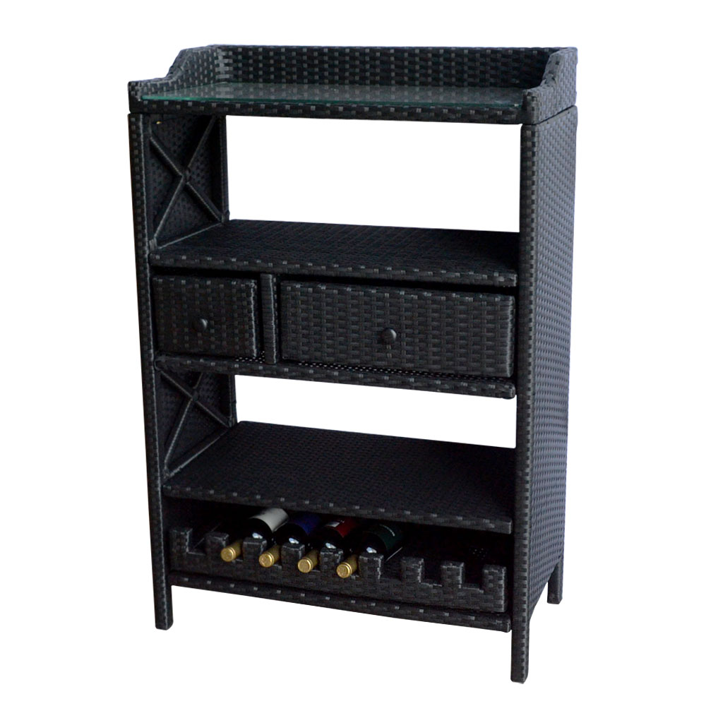 Wicker 8 Wine Bottle Rack Bar Console Table Stand Holder ...