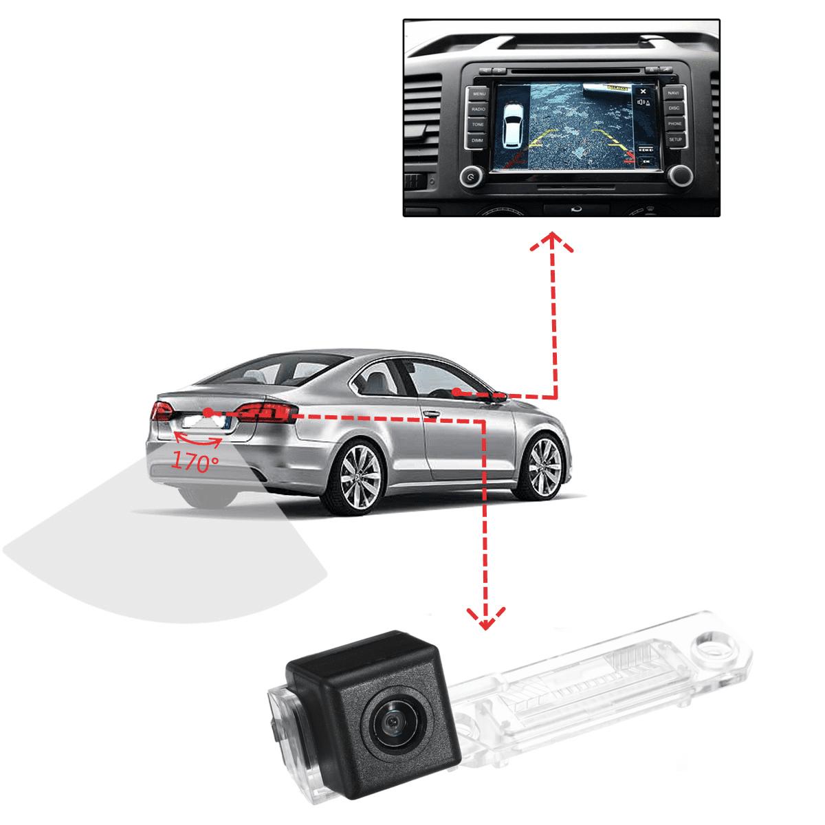 Reversing Camera 4.3/'/' Color Monitor Car Backup Kit for VW T5 Caddy Touran #