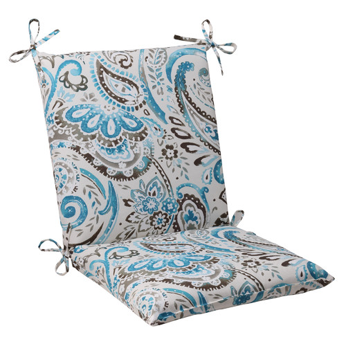 Pillow Perfect Outdoor/ Indoor Vermilya Tidepool Squared Corners Chair Cushion