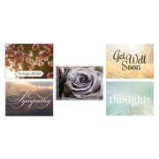 CEO Cards Sympathy and Get Well Greeting Card Assorted Box Set of 25 Cards & 26 Envelopes - VP1604