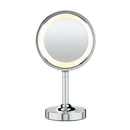 Conair Double-Sided Lighted Round Mirror, Model