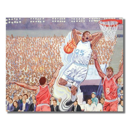 Basketball Challenge Slam Dunk Time is Here Wall Picture 8x10 Art (Basketball Slam Dunk Pictures)