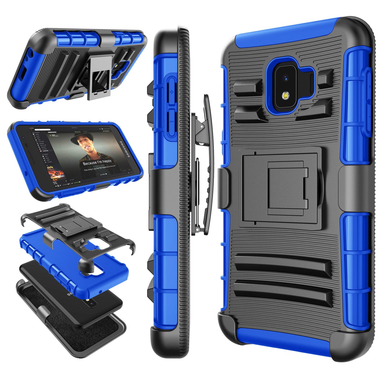 Galaxy J2 Core Case Samsung J2 Dash J2 Pure J260 Holster Clip Tekcoo Hoplite Shock Absorbing Swivel Locking Belt Defender Full Body Kickstand Carrying Armor Sturdy Phone Cases Cover Black