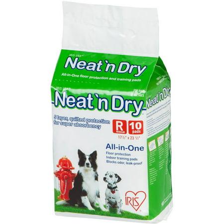 Iris Net - IRIS Neat 'n Dry Premium Pet Training Pads, Regular, 10-Count