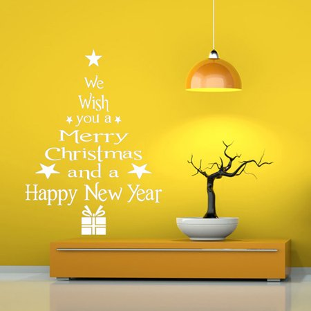 Vinyl Removable 3D Wall Sticker Christmas Tree Decals For Christmas Wa