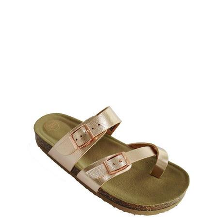 Footbed Sandal (Gt Wonder Nation Sandal Footbed Slide)