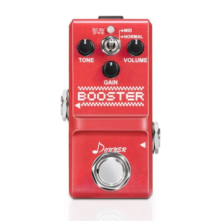 Donner Booster Boost Guitar Effect Pedal Super Mini Pedal Boost Treble Booster Effect Pedal
