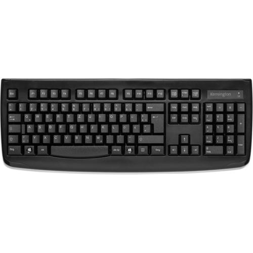 Kensington Pro Fit Wireless Keyboard - Black - Wireless Connectivity - RF - USB Interface - Compatible with Computer - Q
