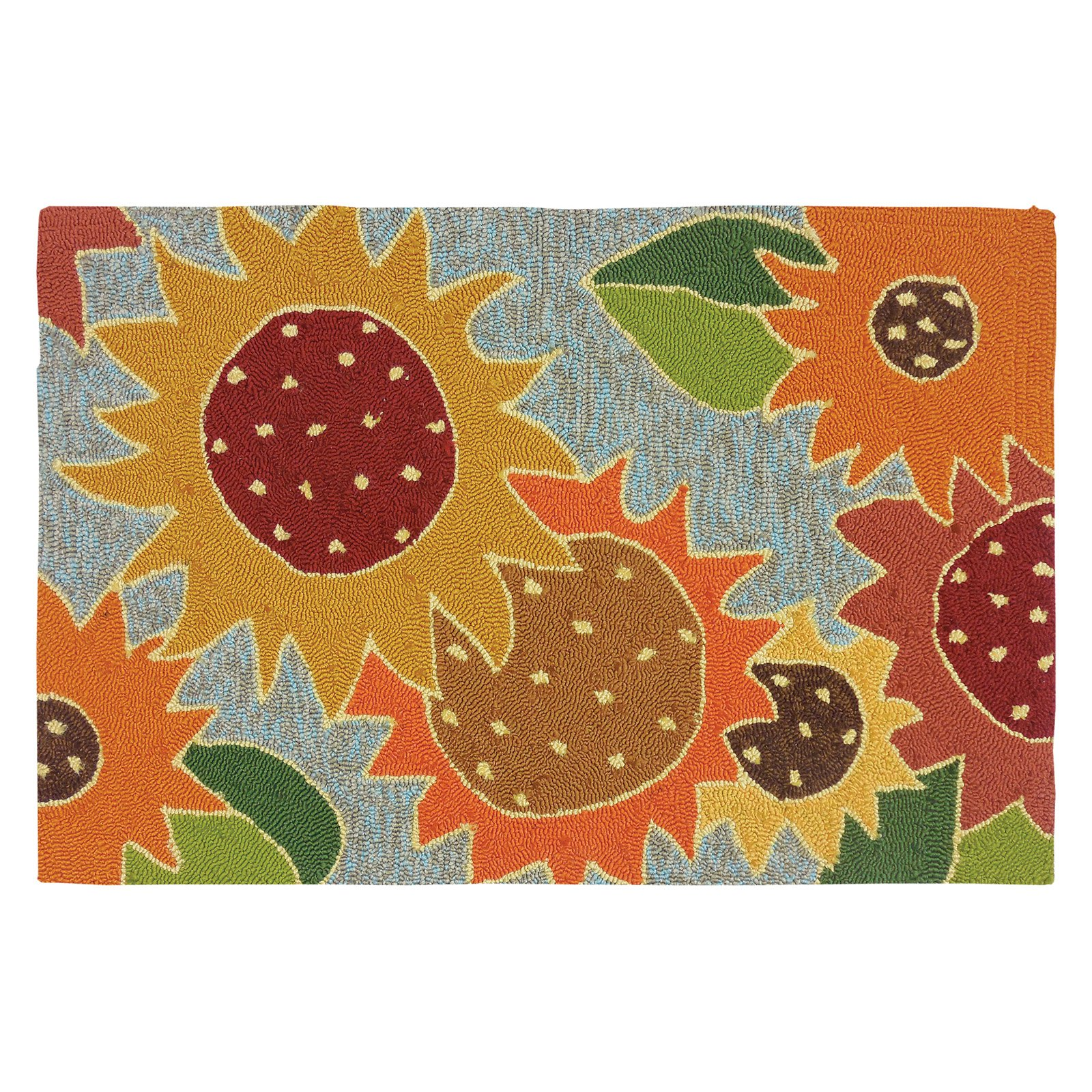 Homefires Sunflower Impression Indoor/Outdoor Accent Rug