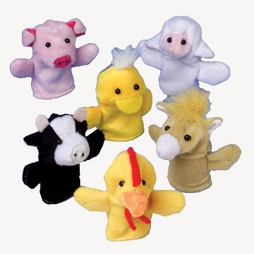 Farm Animal Finger Puppets - 12 pieces
