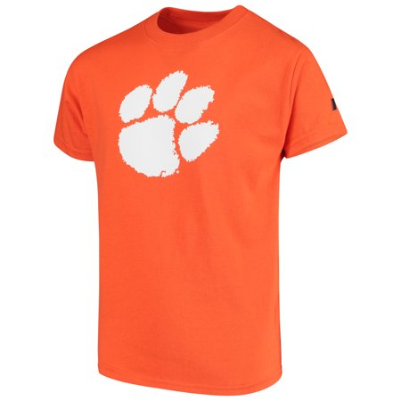 Clemson Stand (Clemson Tigers Russell Youth Oversized Graphic Crew Neck T-Shirt - Orange)
