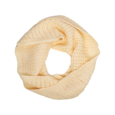 Girls Lovely Knitting Circle Scarf Warm Shawl - Beige