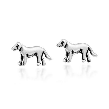 Adorable Golden Retriever Puppy Sterling Silver Stud Earrings