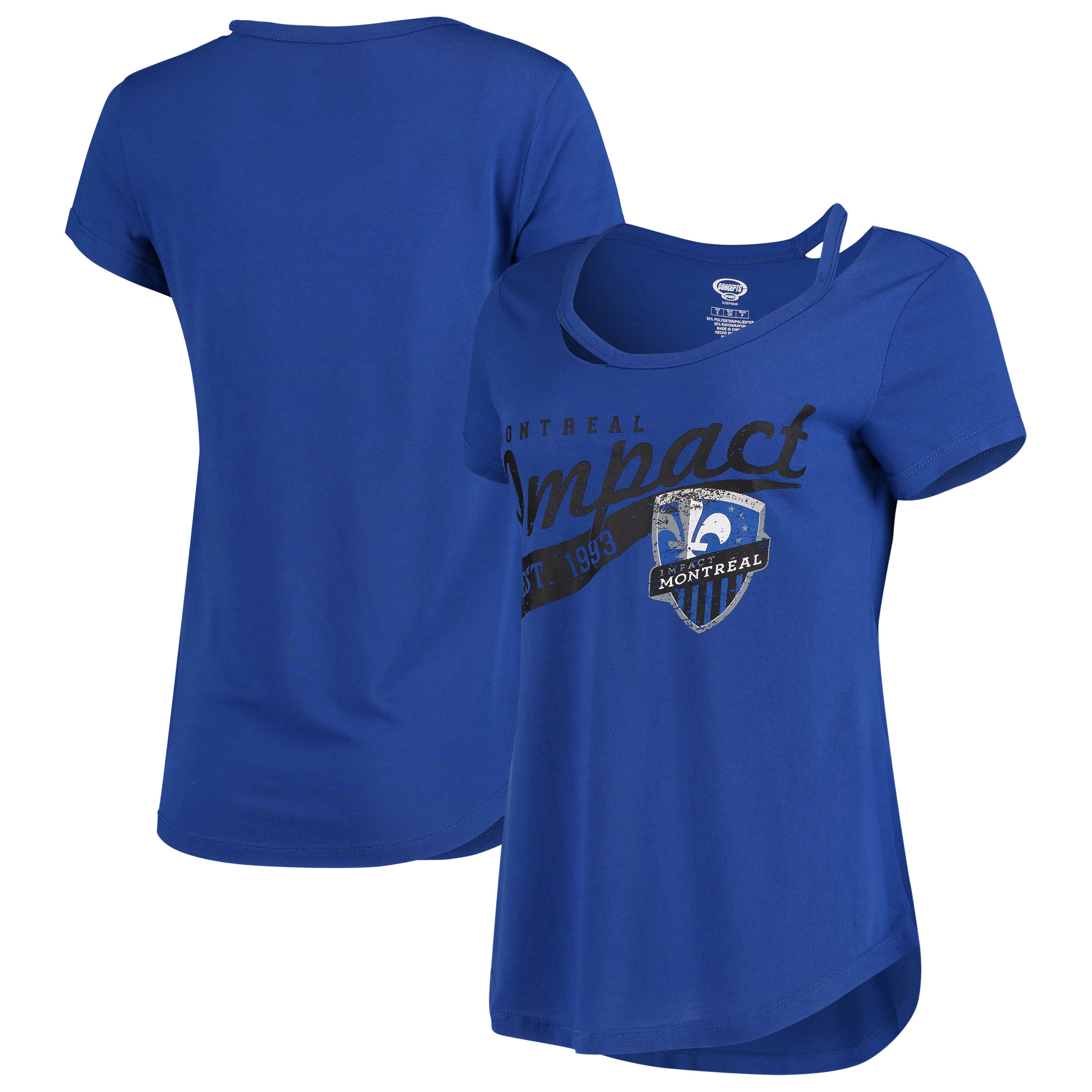 Montreal Impact Concepts Sport Women's Squad Cut Neck T-Shirt - Blue