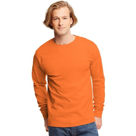 Hanes TAGLESS Men`s Long-Sleeve T-Shirt - Best-Seller, 5586,